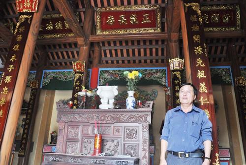 Nhà thờ tộc Phan Phước ở xã Điện Phong (Điện Bàn). Ảnh: VINH ANH