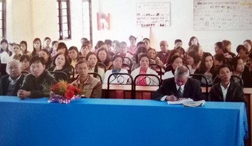 """Lễ tổng kết 1 năm thực hiện Chương trình """"heo đất tiết kiệm"""" của Hội LHPN xã Trạm Hành, TP.Đà Lạt, tỉnh Lâm Đồng."""