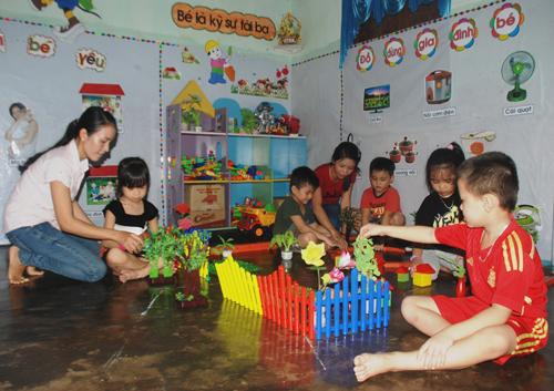 Phổ cập giáo dục mầm non cho trẻ em 5 tuổi đang là điểm sáng của ngành giáo dục Núi Thành. Ảnh: Đ.ĐẠO