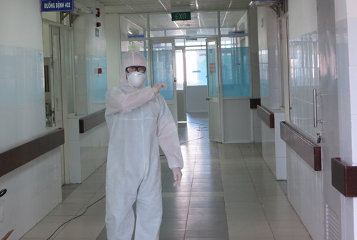 Khu vực cách ly tiếp nhận trường hợp nghi nhiễm Ebola tại Đà Nẵng vừa qua. Bệnh nhân Ch.V.Ch được xác định âm tính với virus. Ảnh: C.V