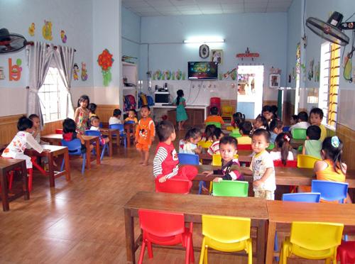 Rất ít trường tư thục đáp ứng về diện tích và điều kiện chăm sóc trẻ.