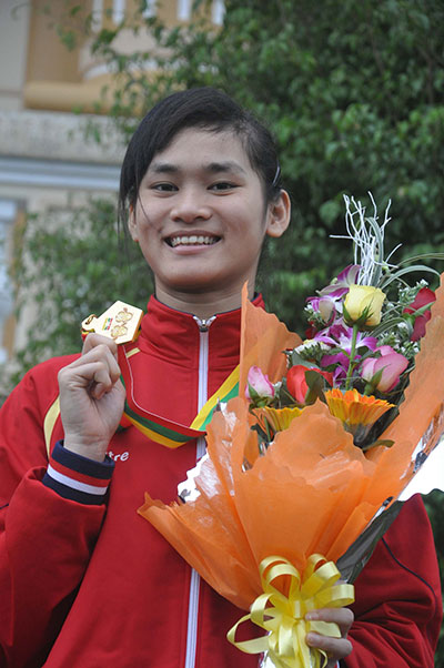 Phạm Thị Thu Hiền đem về huy chương vàng thứ 2 cho đoàn thể thao Quảng Nam