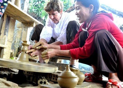 A tourist's experience as a potter. Picture:: Tri Tin