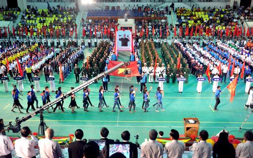 Quang cảnh lễ khai mạc Đại hội TD-TT tỉnh Quảng Nam lần thứ VII.Ảnh: TƯỜNG VY