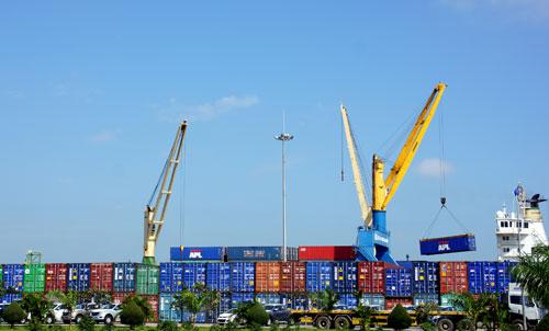 Cảng Chu Lai - Trường Hải. Ảnh: PHƯƠNG THẢO