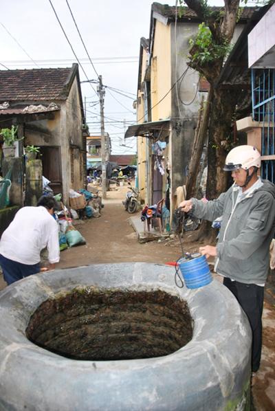 Giếng bà Họa, khối phố Bàn Thạch (phường Hòa Hương).