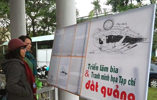 Triển lãm tranh ảnh bìa minh họa tạp chí tại Hội VHNT tỉnh.