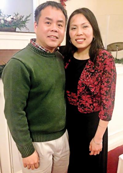 Vợ chồng tiến sĩ Trương Công Đức.