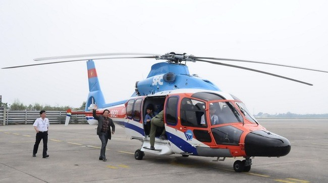 A voyage by helicopter in Quang Nam province will bring many interesting experiences to the tourists.