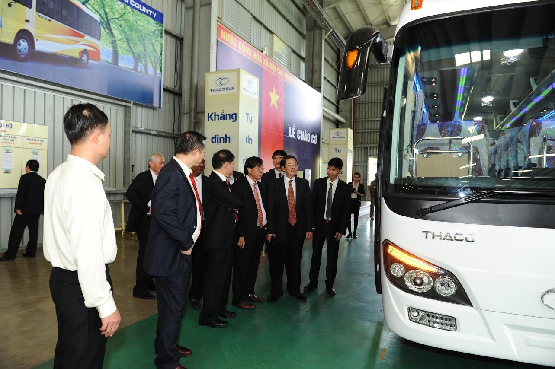 Dòng xe bus đời 2015 đang được đánh giá cao và chiếm lĩnh thị trường. Ảnh Minh Hải