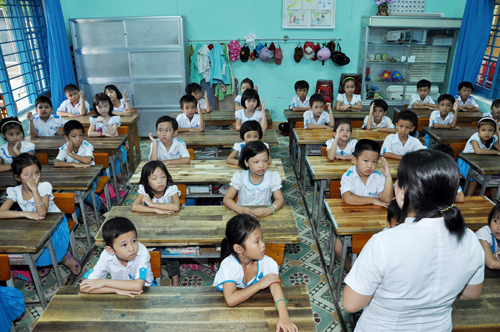Đánh giá học sinh tiểu học theo Thông tư 30 cần bộ công cụ hỗ trợ.    Ảnh: Thanh Dũng