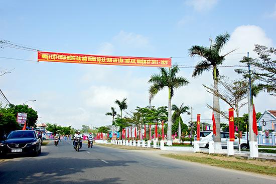 Diện mạo nông thôn xã Tam An ngày càng khởi sắc.Ảnh: PHƯƠNG THẢO