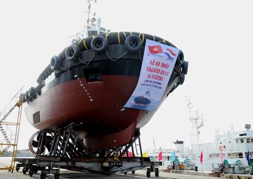 Tàu ASD 2411/YN 512291 trước khi được hạ thủy