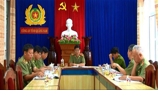 Thường vụ Công an tỉnh họp bàn công tác chuẩn bị đại hội.