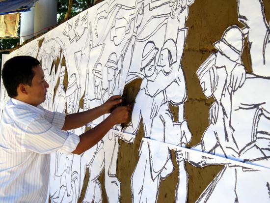 Nhà điêu khắc trẻ Trần Đức.