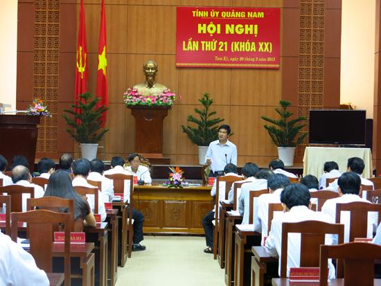 Góp ý cho định hướng phát triển Quảng Nam trong vòng 5 năm đến. Ảnh: T.D