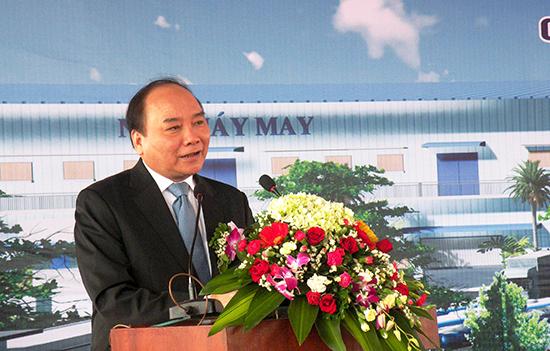 Phó Thủ tướng Chính phủ Nguyễn Xuân Phúc phát biểu tại lễ khởi công.