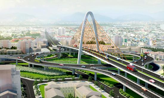 Công trình cầu vượt Ngã ba Huế đã khánh thành và đưa vào sử dụng vào dịp kỷ niệm 40 năm Ngày giải phóng Đà Nẵng (29.3.1975 - 29.3.2015).