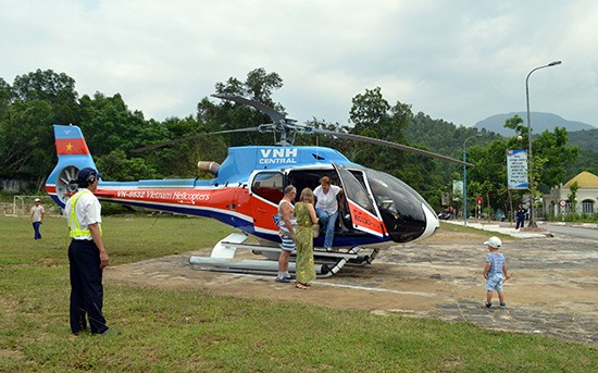 The helicopter tour to be introduced at My Son sanctuary site the first time. Photo: Vinh Loc