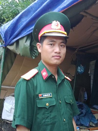 Trung úy Lê Phước Đức Tài. Ảnh: XUÂN ANH