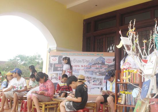 Không gian đọc Hội An - mô hình hoạt động hiệu quả và kích thích việc đọc sách của trẻ em ở Hội An.                       Ảnh: K.T.H
