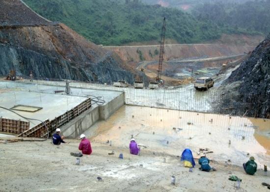 Thi công thủy điện Sông Bung 2. Ảnh internet
