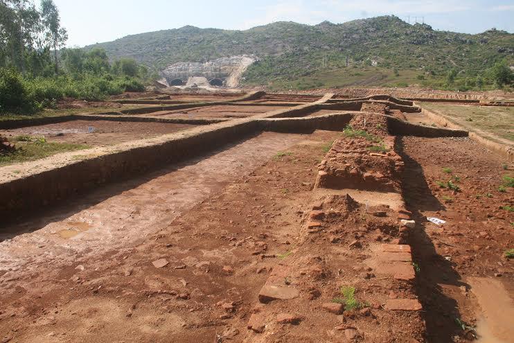 Toàn bộ khu di tích Triền Tranh được khai quật đầu năm 2015.