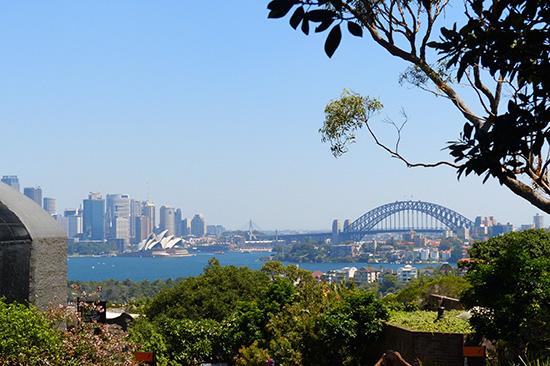 Vì vườn thú ở trên đồi cao, khách có thể nhìn thấy cảnh đẹp của Sydney. Ảnh: NGỌC TRÂN
