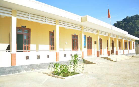 Trạm Y tế xã Ga Ry vừa được xây mới khang trang. Ảnh: VĂN HÀO