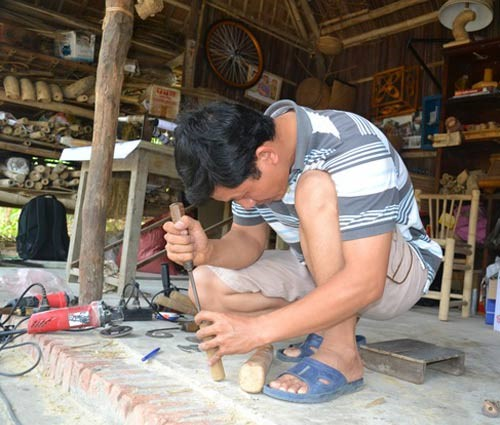 …he spends most of time and confidential in make useful bamboo products.