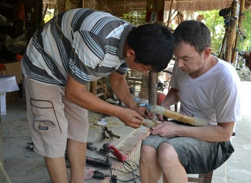 Alex is also interested in making bamboo bicycles.