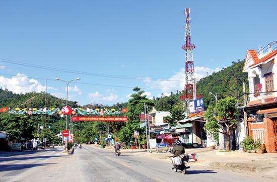 Diện mạo thị trấn Thạnh Mỹ, Nam Giang hôm nay.Ảnh: A Lăng Ngước
