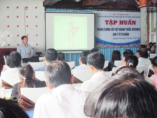 Tập huấn phòng chống sốt rét tại các huyện miền núi trên địa bàn tỉnh.