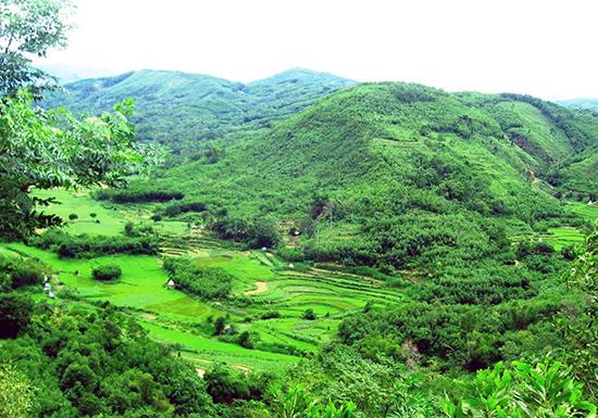 Một góc làng Thạnh Bình nhìn từ Đèo Liêu. Ảnh: Nguyễn Hưng