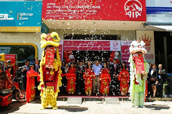 Văn phòng Tổng Đại lý AIA Quảng Nam  khai trương chi nhánh kinh doanh tại khu 7, thị trấn Ái Nghĩa, huyện Đại Lộc.