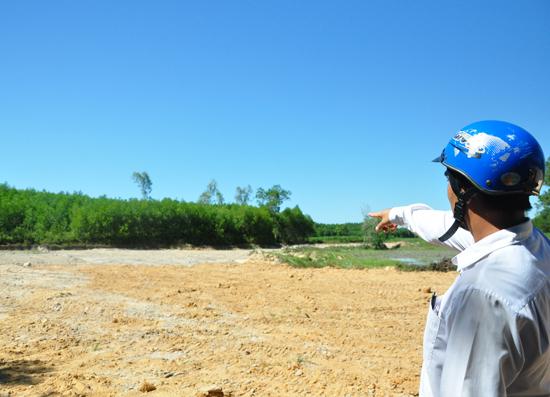 Diện tích đất của 7 hộ dân trong khu vực Gò Sơn đã được hoàn thổ, cải tạo mặt bằng theo phương án cải tạo đất. Ảnh: H.G