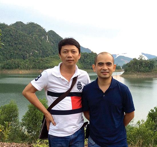 Nhạc sĩ Trần Quế Sơn và Đức Trí.
