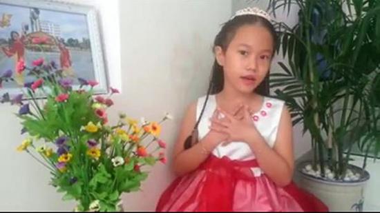 Phần dự thi của em Đặng Trần Minh Châu - học sinh Trường Tiểu học Kim Đồng (Tam Kỳ). (ảnh cắt từ clip dự thi)