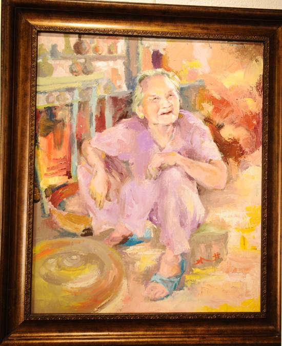 Nhớ ngoại, khắc họa chân dung về nghệ nhân gốm Nguyễn Thị Được, 94 tuổi. Ảnh Minh Hải
