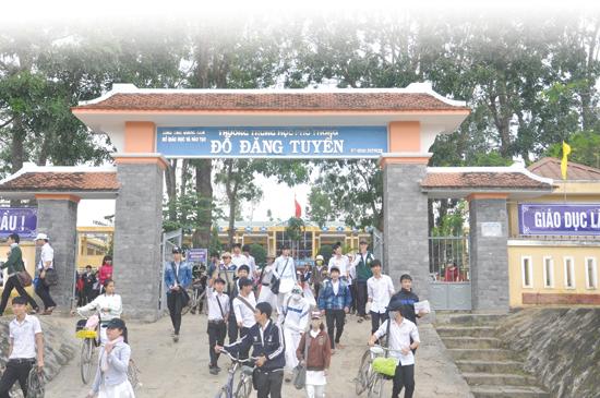 Trường THPT Đỗ Đăng Tuyển (Đại Lộc) đạt chuẩn quốc gia năm 2015. Ảnh: T.VY