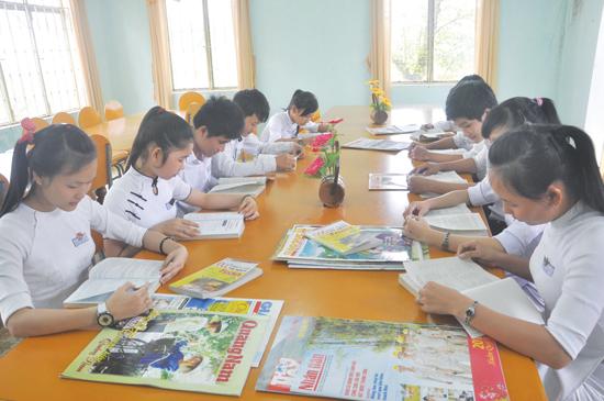 Xây dựng trường chuẩn sẽ giúp cho học sinh có điều kiện học tập, nâng cao chất lượng. Ảnh: T.VY
