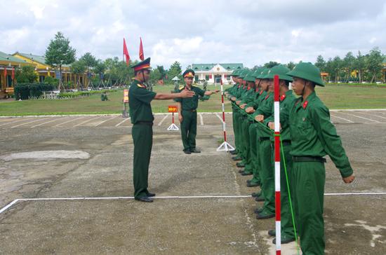 Thao trường huấn luyện chiến sĩ mới.  Ảnh: K.T