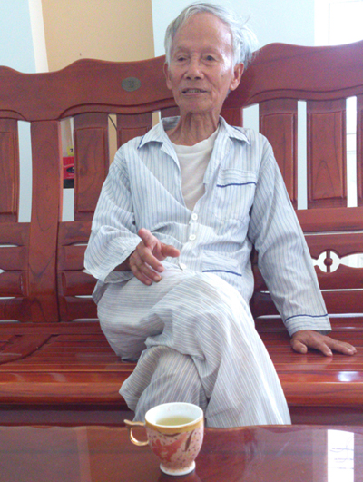 Ông Nguyễn Hữu Duyệt, cháu ngoại tộc Trần ở Thanh Quýt.