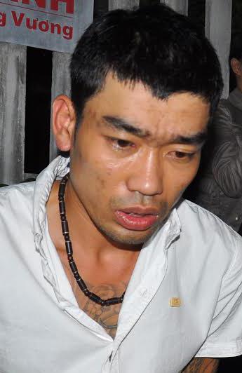 Đối tượng Ngô Quốc Khánh và Lê Hoàng Nam bị bắt quả tang.