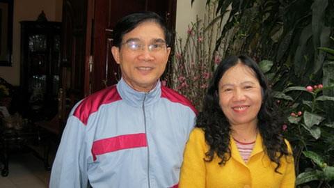 Anh hùng Lê Mã Lương và vợ.