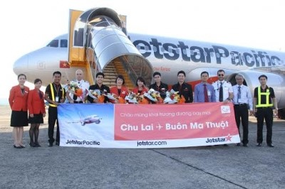 Opening ceremony of the Chu Lai-Buon Ma Thuot air route