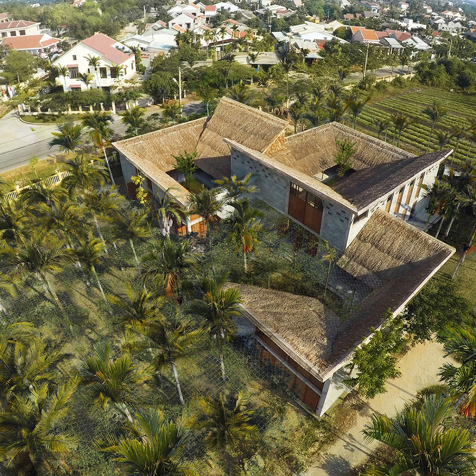 A bird's-eye view of the Cam Thanh Community House