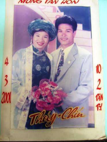 HLV Đặng Văn Chín và Đặng Thị Thúy chính thức lấy nhau vào năm 2001