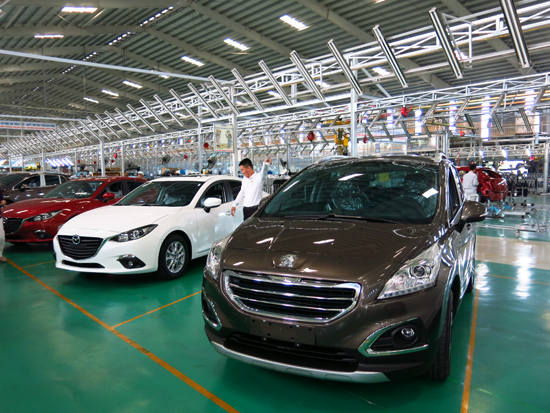 Tăng thu thuế chủ yếu nhờ vào sự phát triển của 2 công ty sản xuất, lắp ráp ô tô du lịch Trường Hải. Ảnh: T.D