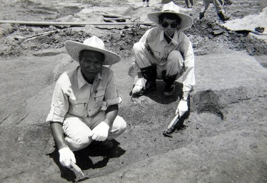 Tại một di chỉ khảo cổ học ở Na Ra, Nhật Bản. (Ảnh tác giả cung cấp)